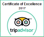Trip Advisor - Certificate of Excellence. 2016